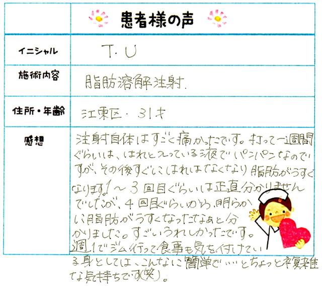 115. 部分やせ 東京都 江東区 31才女性 T.U様