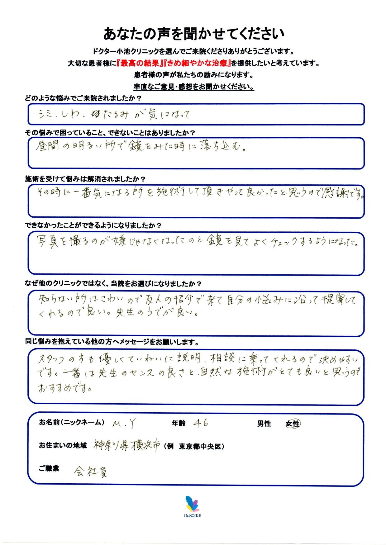 543. シミ・肝斑・シワ・たるみ